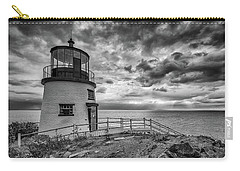 Carry-all Pouch featuring the photograph Autumn Morning At Owls Head Black And White by Rick Berk
