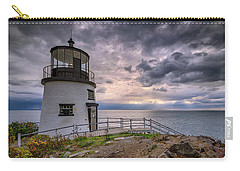 Carry-all Pouch featuring the photograph Autumn Morning At Owls Head by Rick Berk