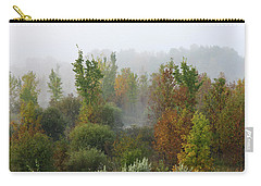 Carry-all Pouch featuring the photograph Autumn Morning Fog by Tatiana Travelways