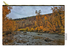 Carry-all Pouch featuring the photograph Autumn On The Yampa River by Dan Miller