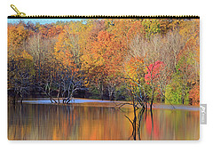 Carry-all Pouch featuring the photograph Autumn Reflections by Angela Murdock
