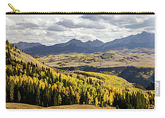 Carry-all Pouch featuring the photograph Autumn Season View Of Sneffles Ten Peak by James BO Insogna