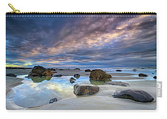 Carry-all Pouch featuring the photograph Autumn Sky At Wells Beach by Rick Berk