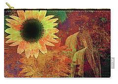 Autumn Sunflower Absrtact Carry-all Pouch