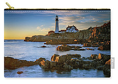 Carry-all Pouch featuring the photograph Autumn Tranquility At Portland Head by Rick Berk