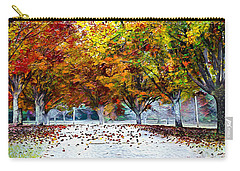 Carry-all Pouch featuring the digital art Autumn Trees by Pennie McCracken