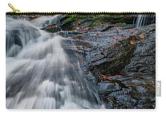 Carry-all Pouch featuring the photograph Autumn Waterfall In Hallowell by Rick Berk