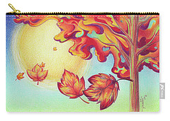 Autumn Wind And Leaves Carry-all Pouch