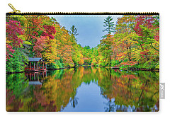 Carry-all Pouch featuring the photograph Autumn On Mirror Lake by Andy Crawford