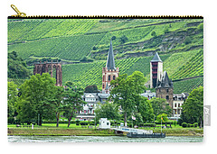Carry-all Pouch featuring the photograph Bacharach, Germany, On The Rhine by Kay Brewer