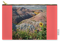 Badlands Sunflower - Vertical Carry-all Pouch