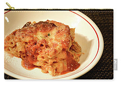 Carry-all Pouch featuring the photograph Baked Ziti Serving 3 by Angie Tirado