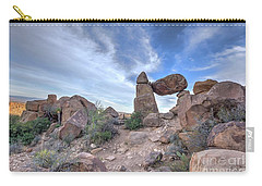 Carry-all Pouch featuring the photograph Balanced Rock by Joe Sparks