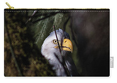 Bald Eagle Behind Tree Carry-all Pouch