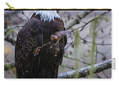 Bald Eagle In Rain Forest Carry-all Pouch