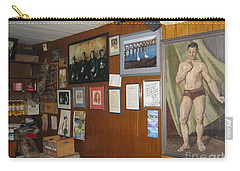 Carry-all Pouch featuring the painting Ballydehob Recolections by Val Byrne