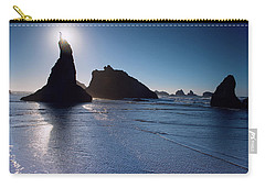 Carry-all Pouch featuring the photograph Bandon Oregon Beach Stroll 102018 by Rospotte Photography