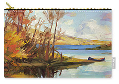 Carry-all Pouch featuring the painting Banking On The Columbia by Steve Henderson