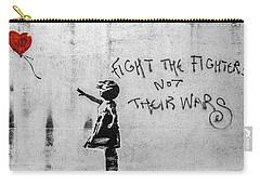 Banksy Balloon Girl Fight The Fighters Carry-all Pouch