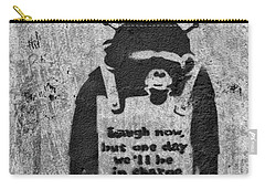 Banksy Chimp Laugh Now Graffiti Carry-all Pouch