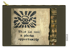 Banksy's This Is Not A Photo Opportunity Carry-all Pouch