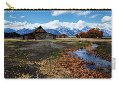 Carry-all Pouch featuring the photograph Barn On Mormon Row by Scott Read