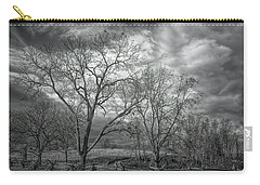 Carry-all Pouch featuring the photograph Barren Fields by John M Bailey