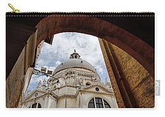 Carry-all Pouch featuring the photograph Basilica Di Santa Maria Della Salute Venice Italy by Nathan Bush