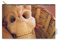 Carry-all Pouch featuring the photograph Basket Of Skul by Lora Lee Chapman