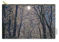 Carry-all Pouch featuring the photograph Bass Lake Frosty by Meta Gatschenberger