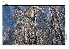 Carry-all Pouch featuring the photograph Bass Lake Trees Frozen by Meta Gatschenberger