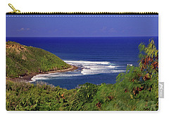 Carry-all Pouch featuring the photograph Bay In St Kitts by Tony Murtagh