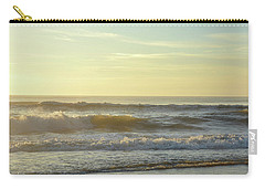 Carry-all Pouch featuring the photograph Beach Morning Blues by Jamart Photography