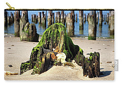 Carry-all Pouch featuring the photograph Beached Walrus At Cape Charles Virginia by Bill Swartwout Fine Art Photography