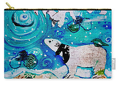Bear And Moon Carry-all Pouch