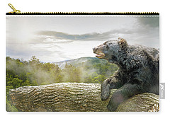 Bear In Tree At Smoky Mountains Park Carry-all Pouch