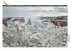 Beautiful Snow Morning Along Rim Rock Drive Carry-all Pouch