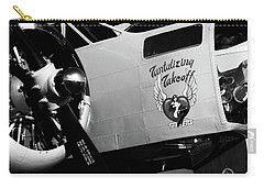 Carry-all Pouch featuring the photograph Beech At-11 Bw by Doug Camara