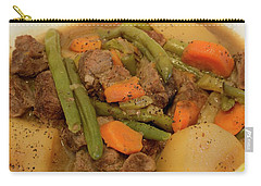 Carry-all Pouch featuring the photograph Beef Stew Serving by Angie Tirado