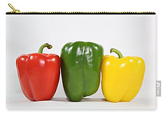 Carry-all Pouch featuring the photograph Bell Pepper Support Group by Debi Dalio