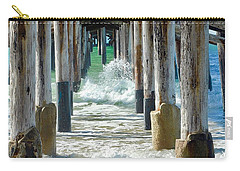 Carry-all Pouch featuring the photograph Below The Pier by Brian Eberly