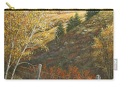 Carry-all Pouch featuring the painting Belt Butte Autumn by Kim Lockman