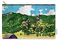 Carry-all Pouch featuring the painting Bergen Peak Summer Watercolor by Dan Miller