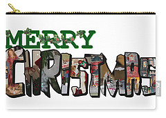Big Letter Merry Christmas Carry-all Pouch