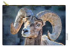Carry-all Pouch featuring the digital art Bighorn Sheep by Pennie McCracken