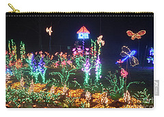 Birdhouse Garden Christmas Lights At Night Carry-all Pouch