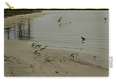 Birds On Beach Carry-all Pouch