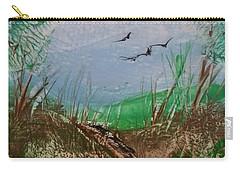 Birds Over Grassland Carry-all Pouch