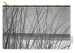 Black And White Beach View Carry-all Pouch