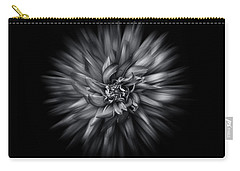 Carry-all Pouch featuring the photograph Black And White Flower Flow No 5 by Brian Carson